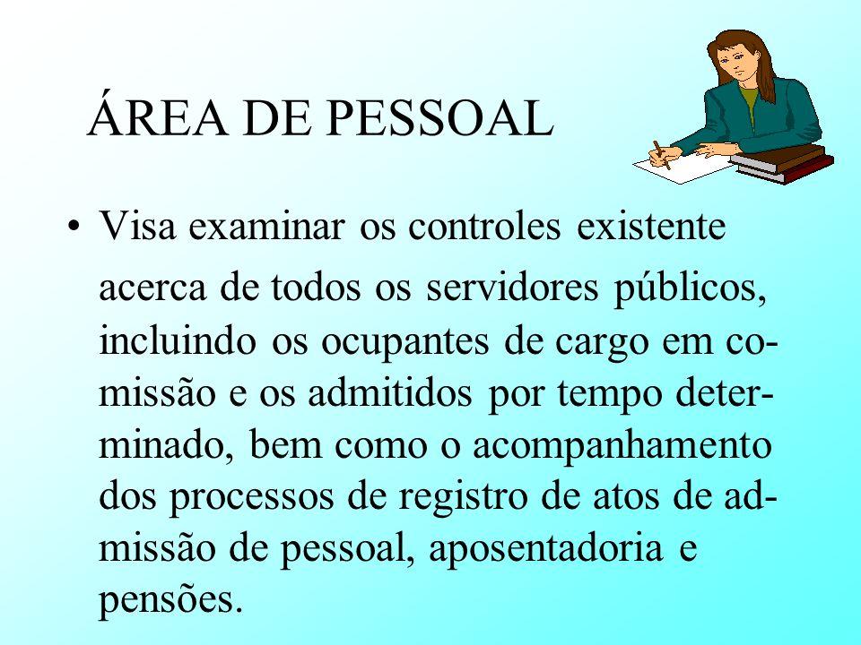 ÁREA DE PESSOAL