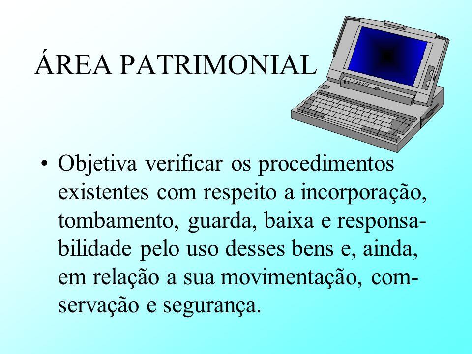 ÁREA PATRIMONIAL