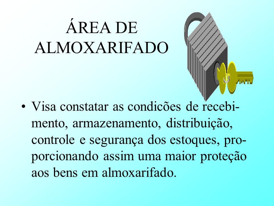 ÁREA DE ALMOXARIFADO