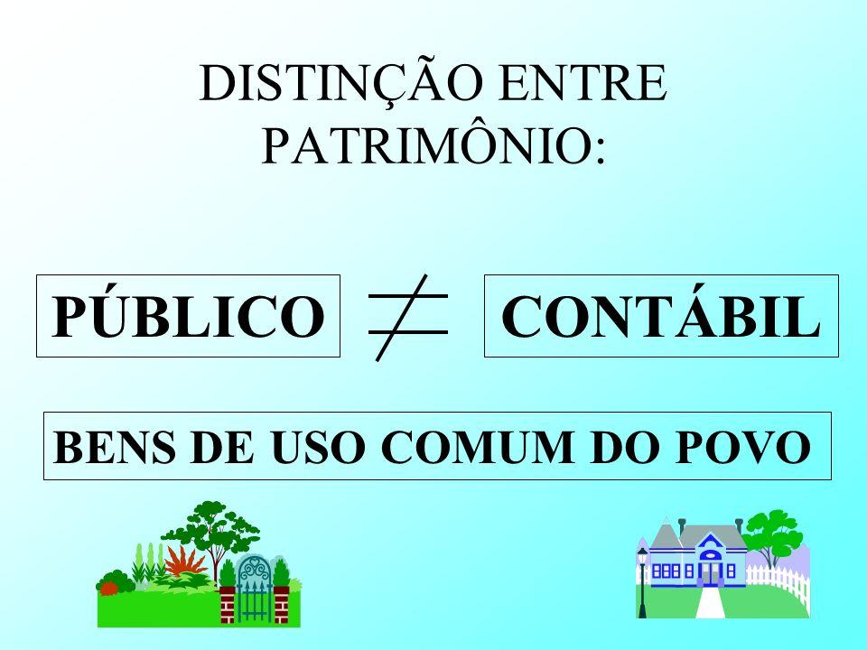 DISTINÇÃO ENTRE PATRIMÔNIO: