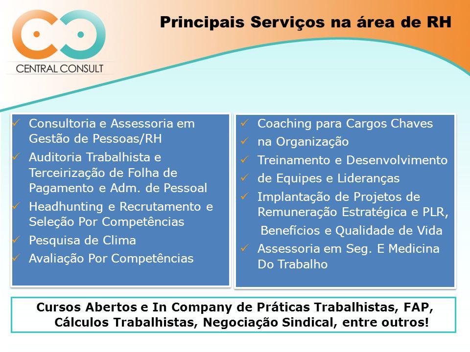 Principais Serviços na área de RH