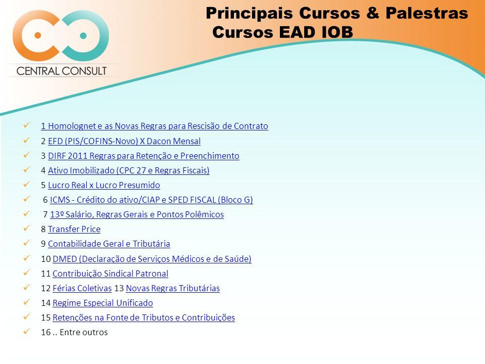 Principais Cursos & Palestras