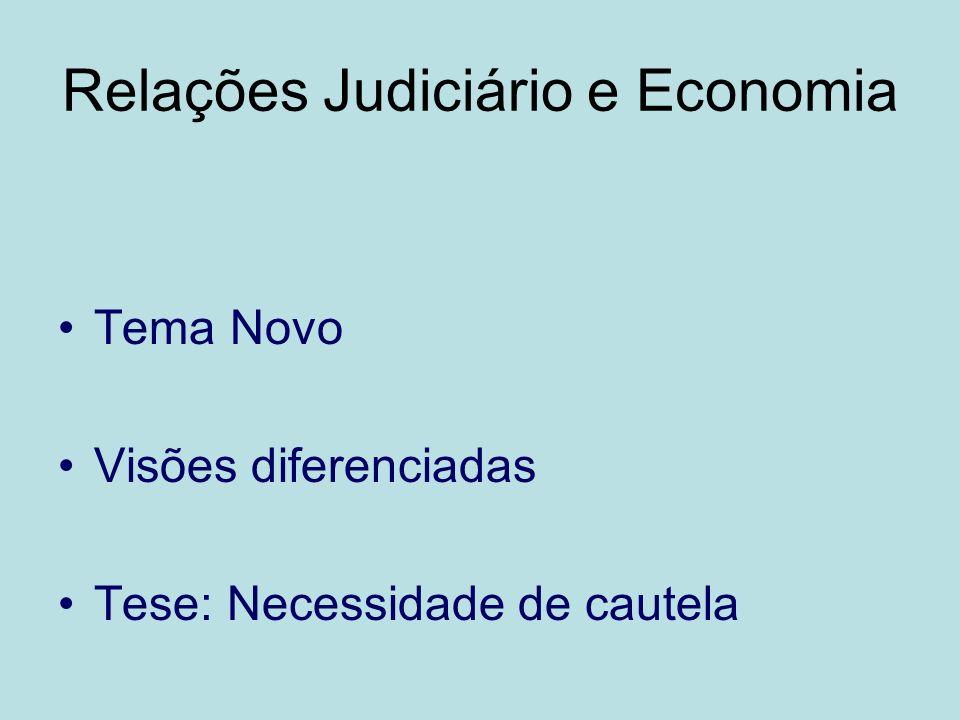Relações Judiciário e Economia