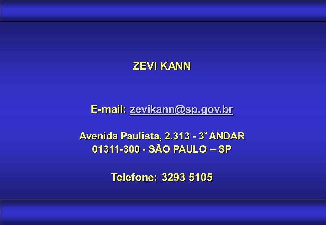 E-mail: zevikann@sp.gov.br Avenida Paulista, 2.313 - 3º ANDAR