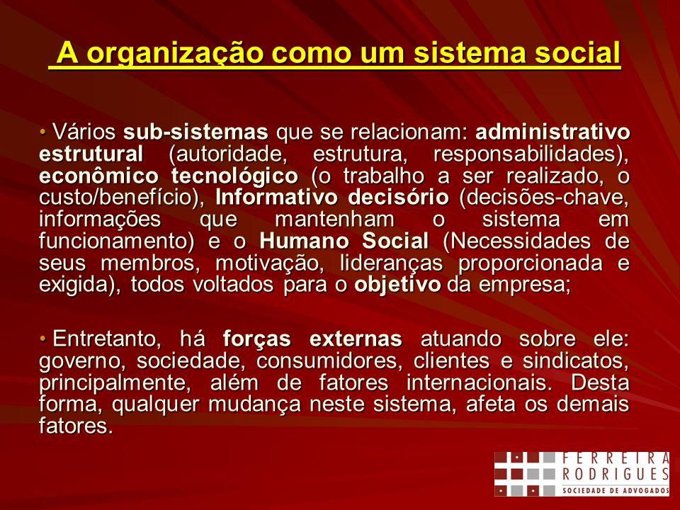 A organização como um sistema social