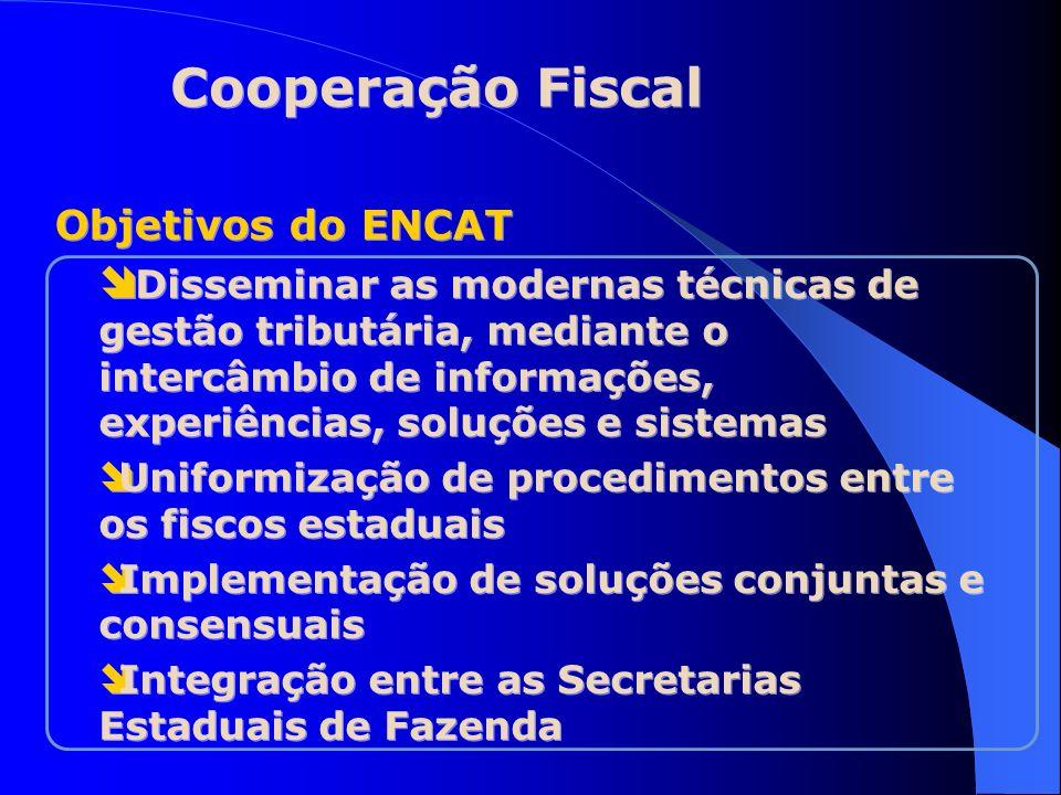 Cooperação Fiscal Objetivos do ENCAT