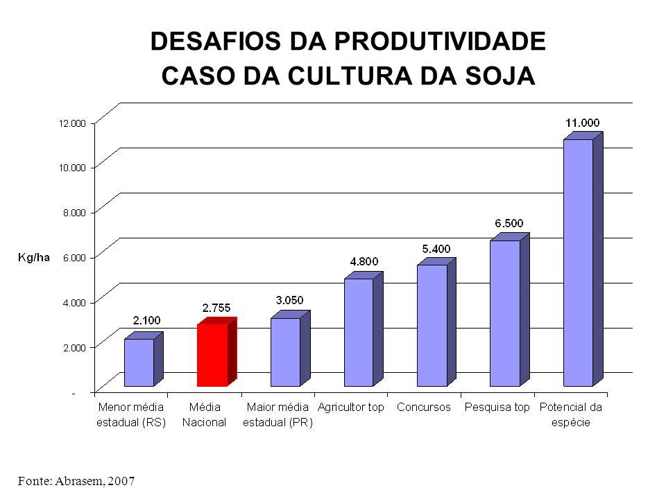 DESAFIOS DA PRODUTIVIDADE CASO DA CULTURA DA SOJA