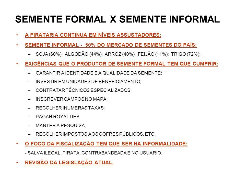 SEMENTE FORMAL X SEMENTE INFORMAL