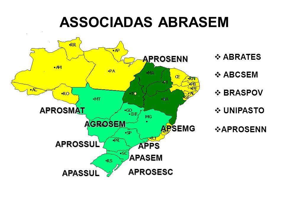 ASSOCIADAS ABRASEM ABRATES APROSENN ABCSEM BRASPOV APROSMAT UNIPASTO