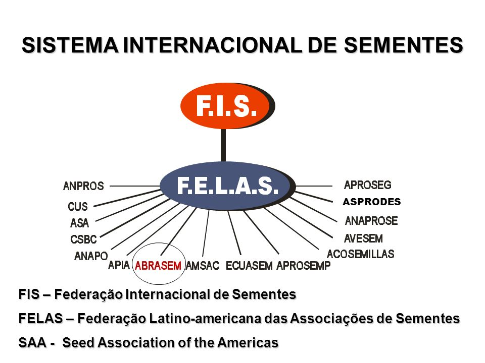 SISTEMA INTERNACIONAL DE SEMENTES