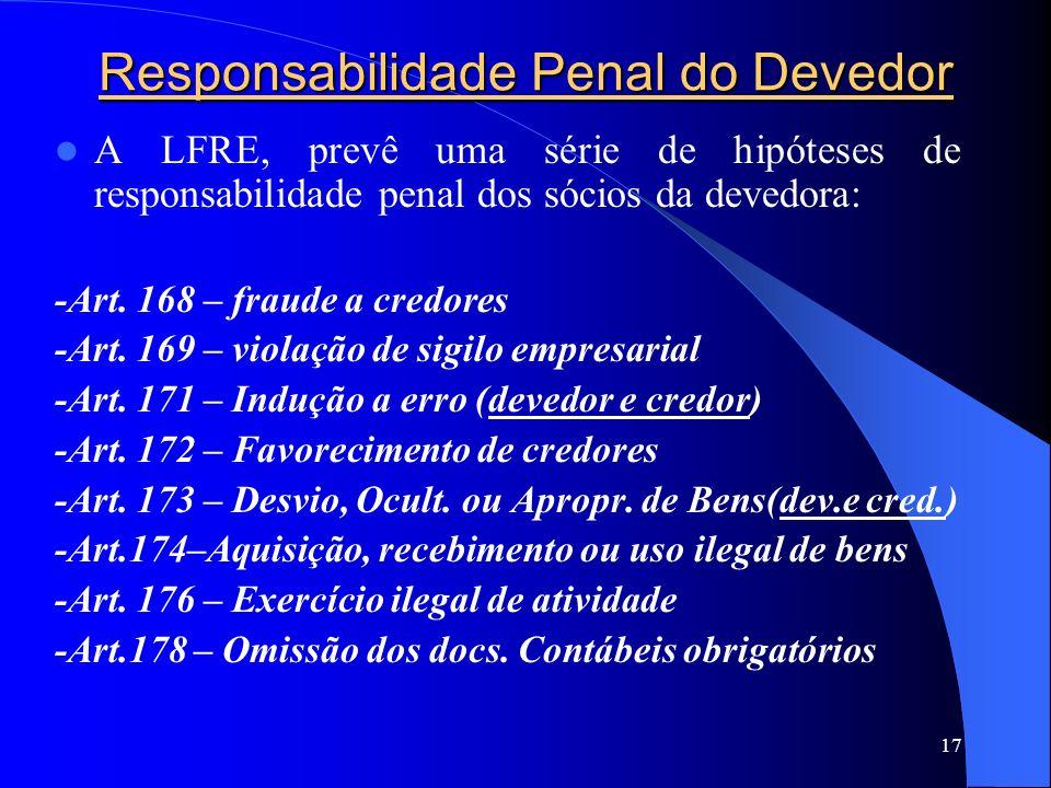 Responsabilidade Penal do Devedor