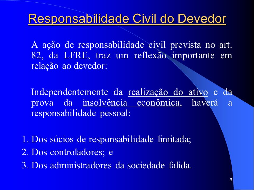 Responsabilidade Civil do Devedor
