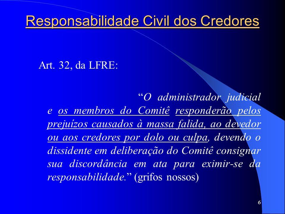 Responsabilidade Civil dos Credores