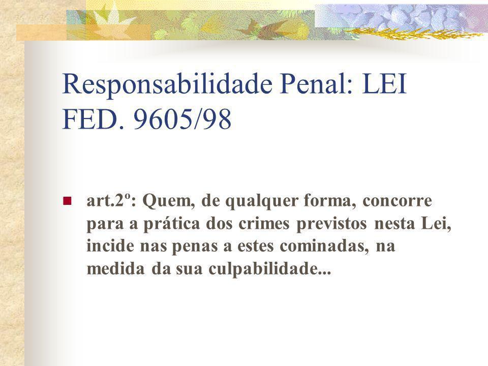 Responsabilidade Penal: LEI FED. 9605/98