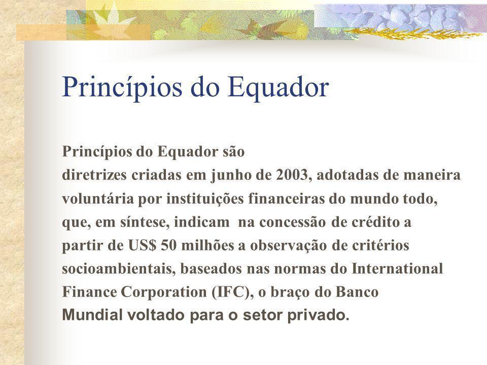 Princípios do Equador Princípios do Equador são