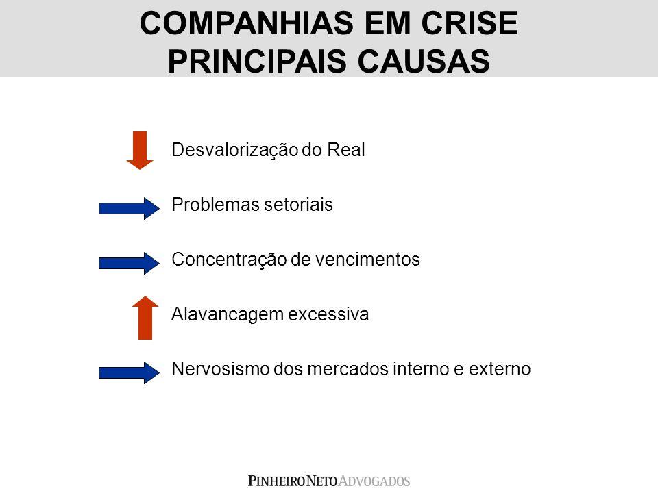 COMPANHIAS EM CRISE PRINCIPAIS CAUSAS