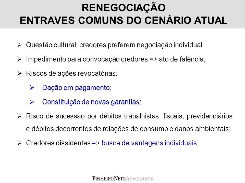 RENEGOCIAÇÃO ENTRAVES COMUNS DO CENÁRIO ATUAL