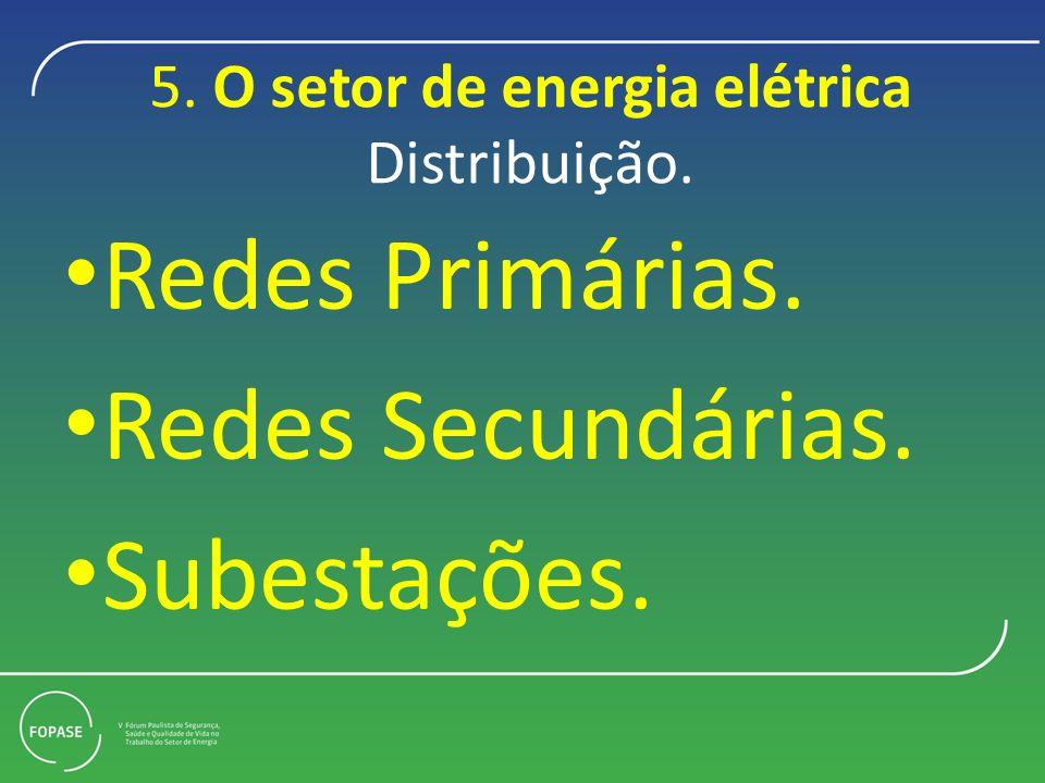 5. O setor de energia elétrica Distribuição.