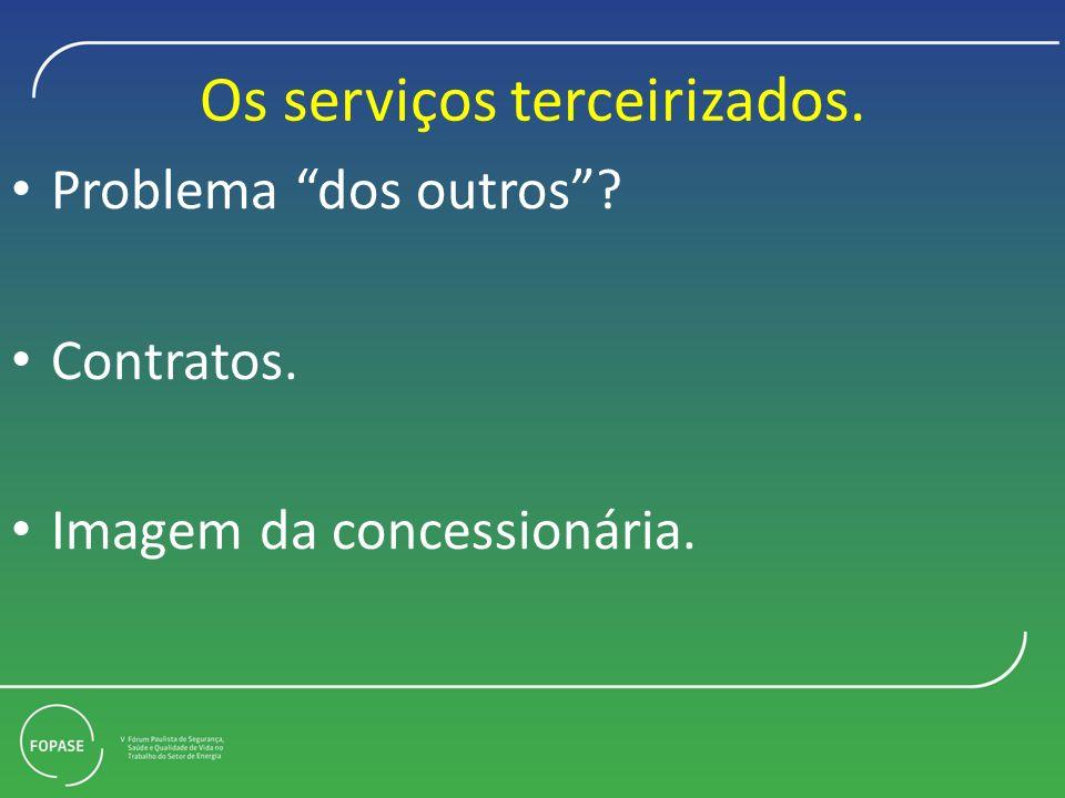 Os serviços terceirizados.