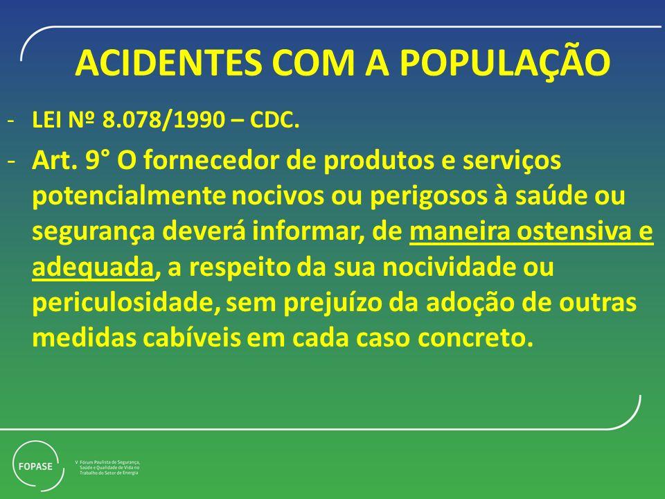 ACIDENTES COM A POPULAÇÃO