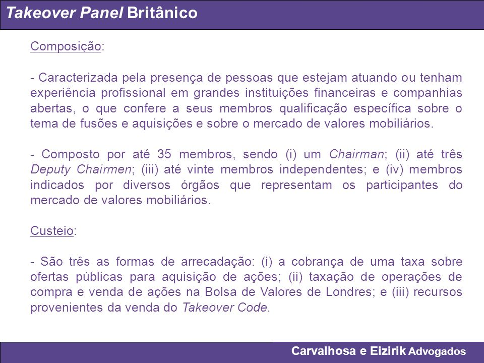 Takeover Panel Britânico