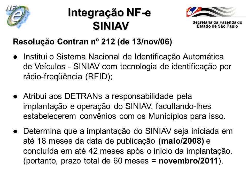 Integração NF-e SINIAV
