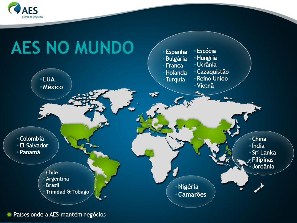 AES NO MUNDO EUA México Nigéria Camarões Escócia Espanha Hungria