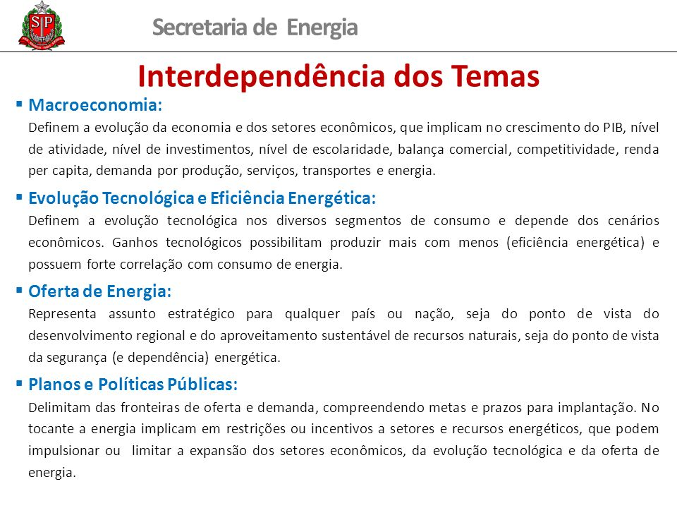 Interdependência dos Temas