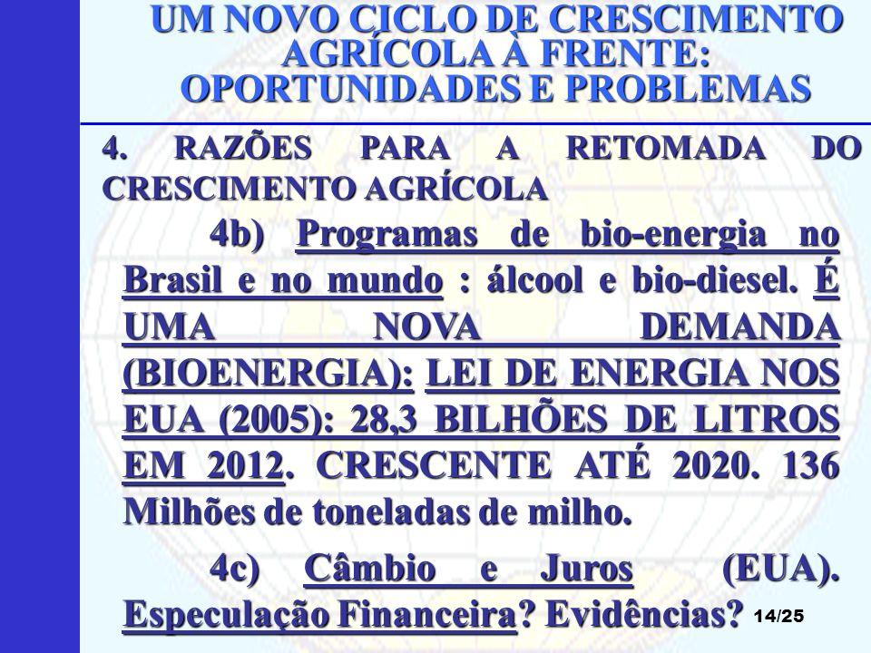 4c) Câmbio e Juros (EUA). Especulação Financeira Evidências