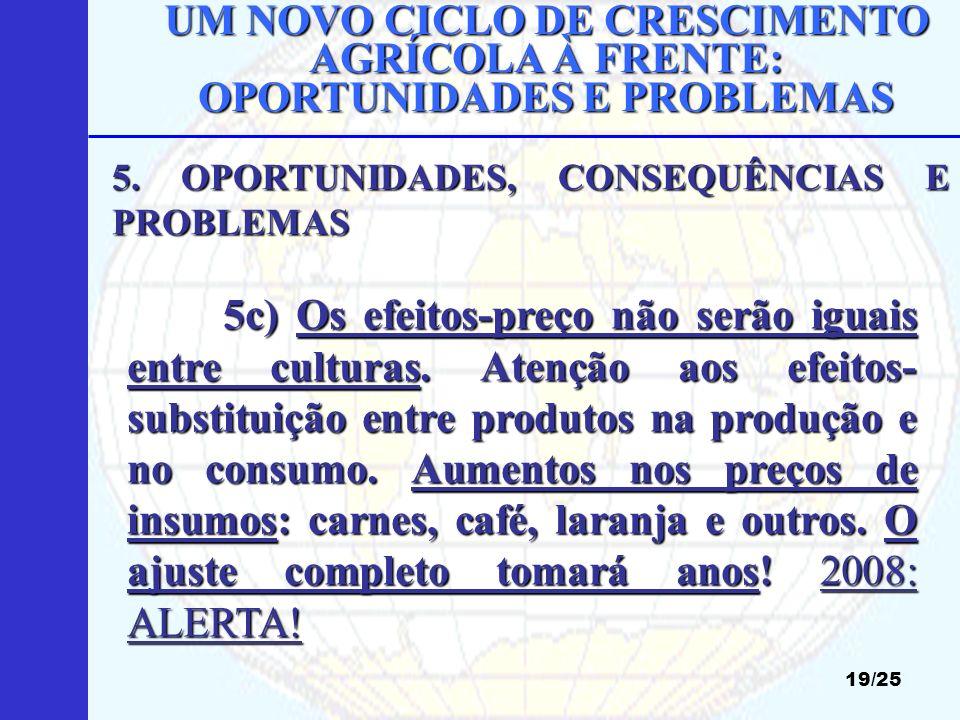 UM NOVO CICLO DE CRESCIMENTO AGRÍCOLA À FRENTE: OPORTUNIDADES E PROBLEMAS