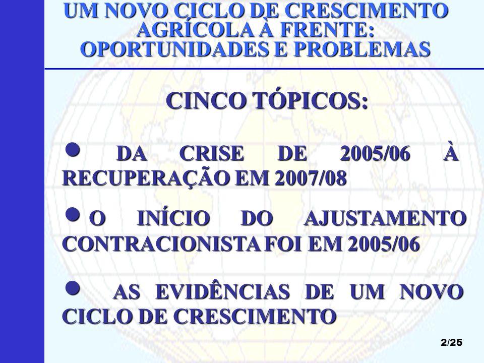  DA CRISE DE 2005/06 À RECUPERAÇÃO EM 2007/08