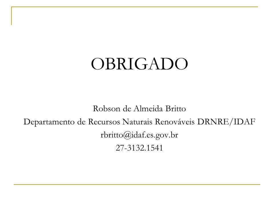 OBRIGADO Robson de Almeida Britto