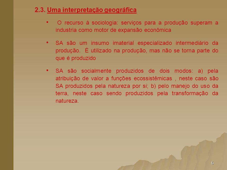 2.3. Uma interpretação geográfica