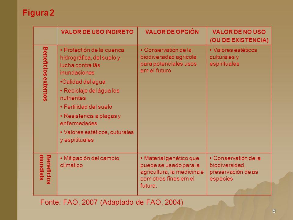 Figura 2 Fonte: FAO, 2007 (Adaptado de FAO, 2004)