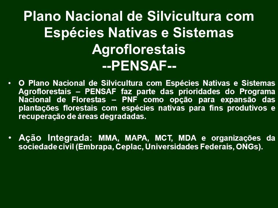 Plano Nacional de Silvicultura com Espécies Nativas e Sistemas Agroflorestais --PENSAF--