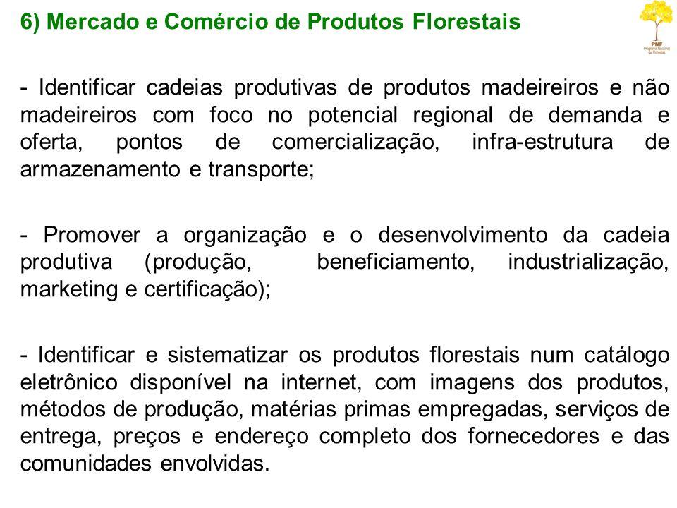 6) Mercado e Comércio de Produtos Florestais