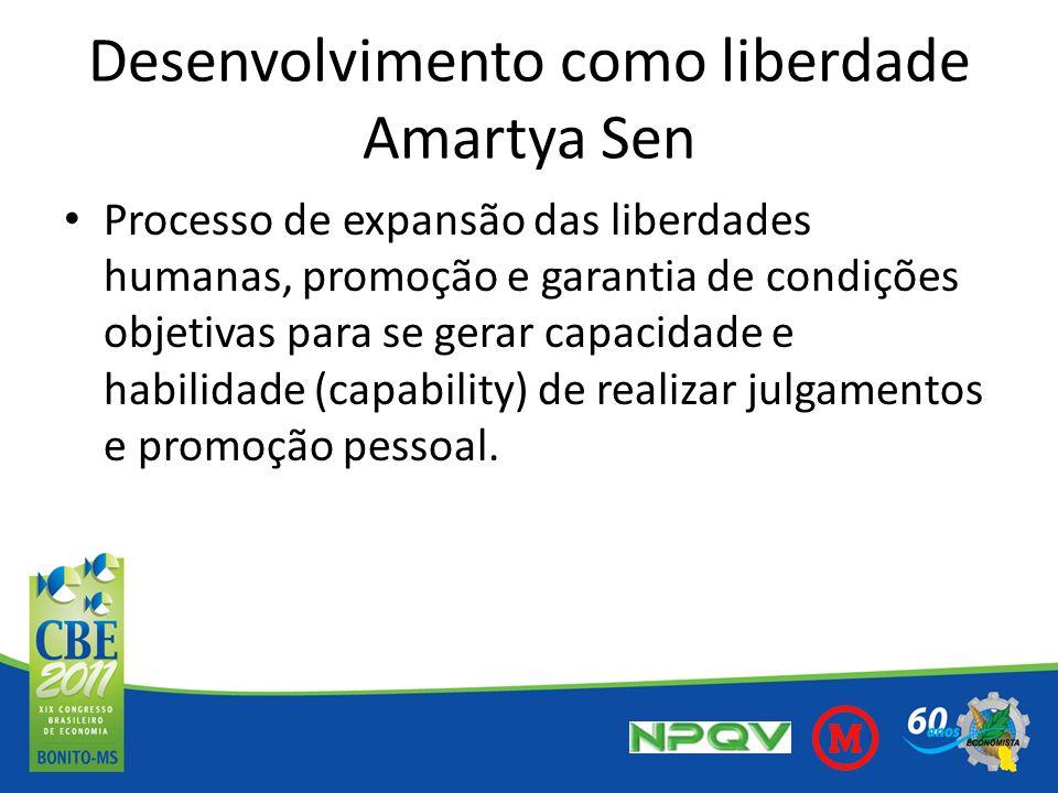 Desenvolvimento como liberdade Amartya Sen