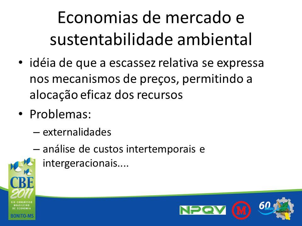 Economias de mercado e sustentabilidade ambiental