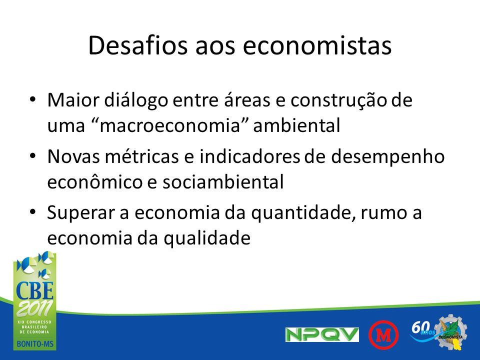 Desafios aos economistas