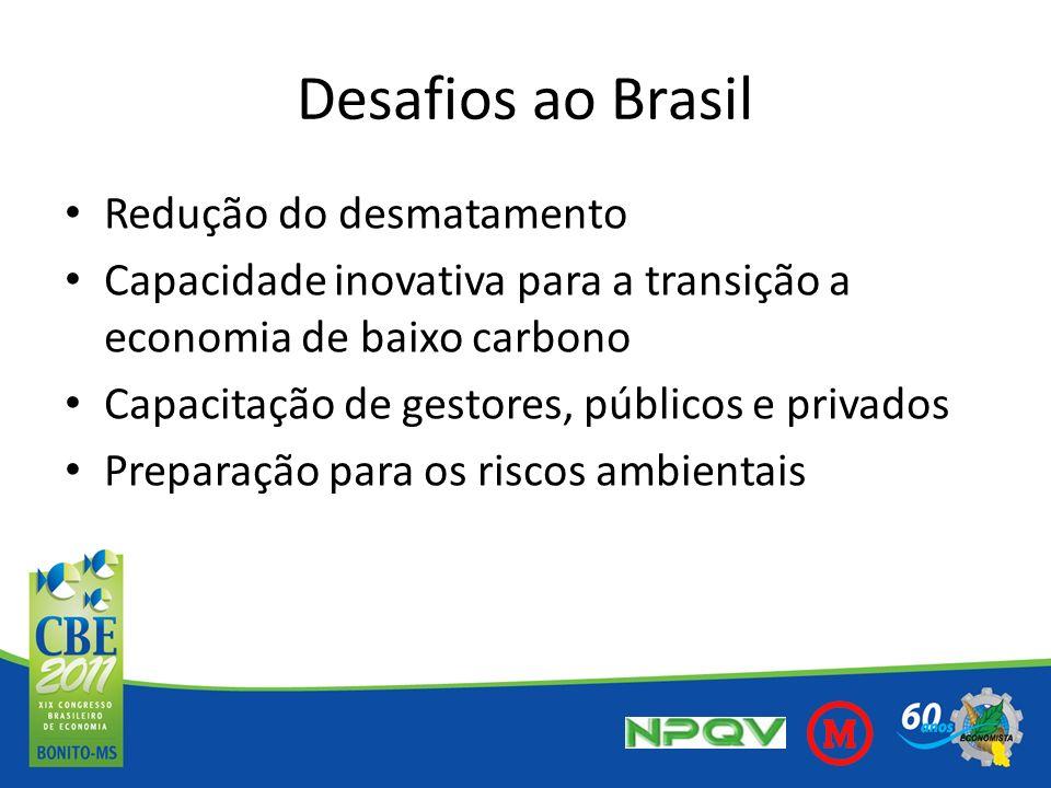 Desafios ao Brasil Redução do desmatamento