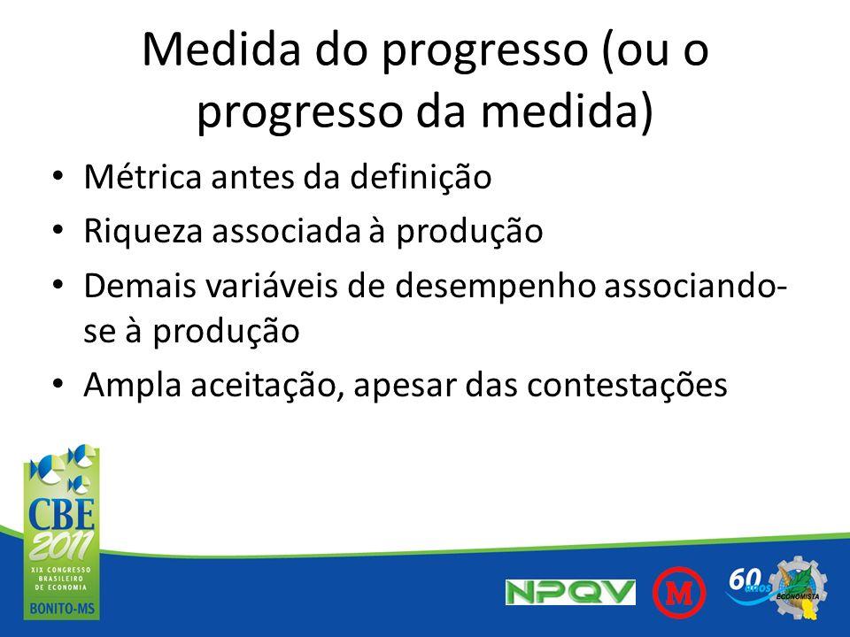 Medida do progresso (ou o progresso da medida)
