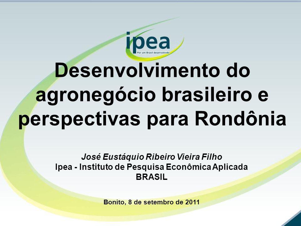 Desenvolvimento do agronegócio brasileiro e perspectivas para Rondônia