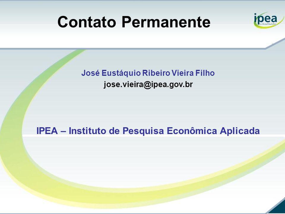 Contato Permanente IPEA – Instituto de Pesquisa Econômica Aplicada