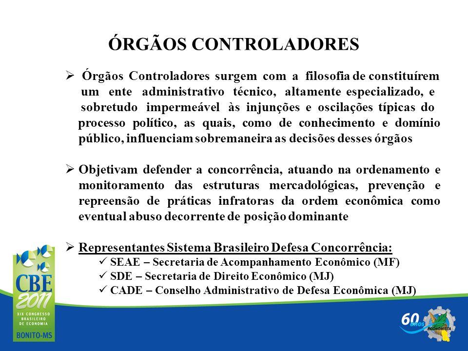 ÓRGÃOS CONTROLADORES Órgãos Controladores surgem com a filosofia de constituírem.