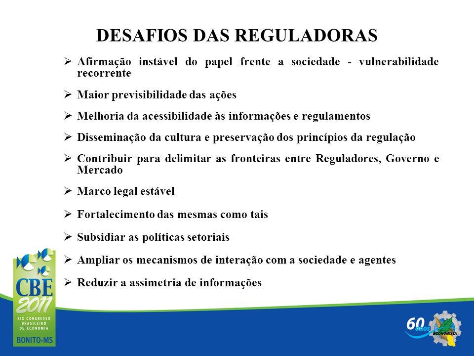 DESAFIOS DAS REGULADORAS