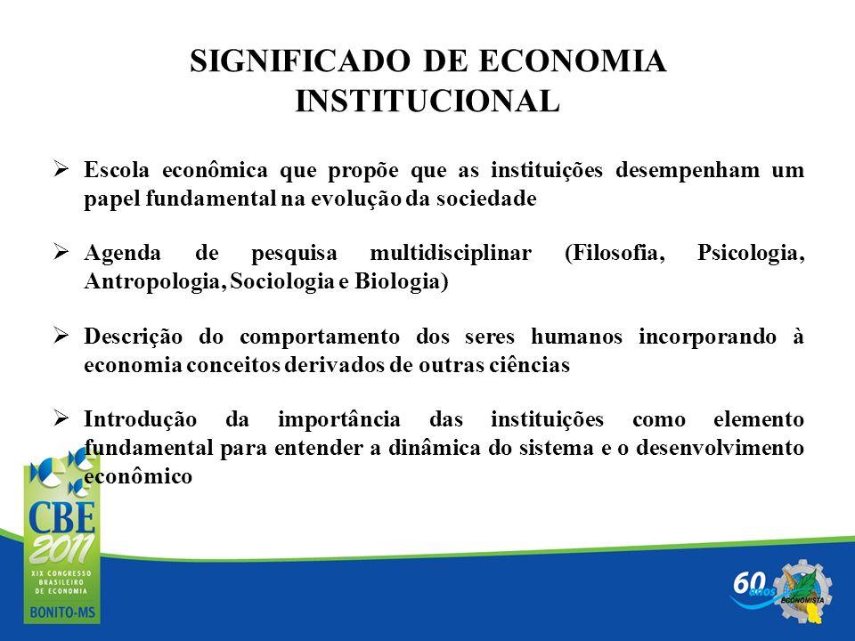 SIGNIFICADO DE ECONOMIA INSTITUCIONAL