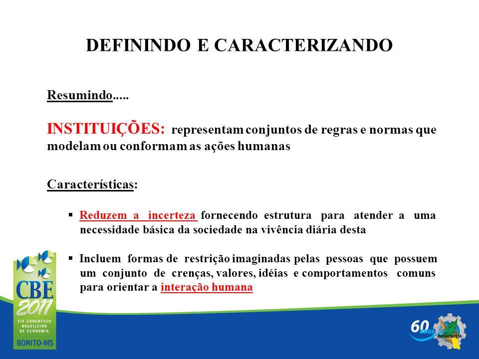 DEFININDO E CARACTERIZANDO