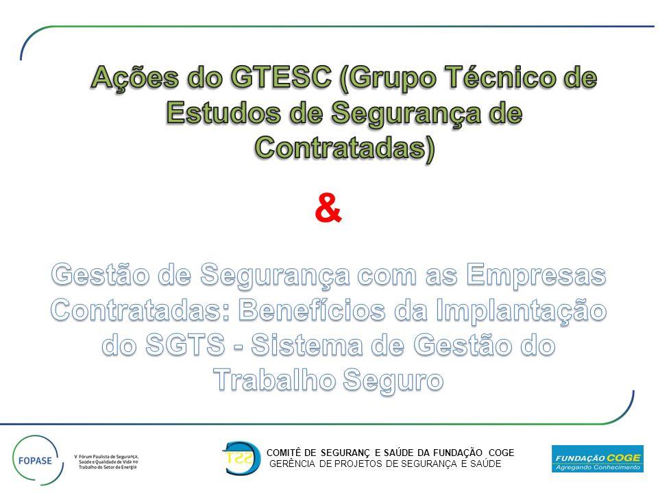 Ações do GTESC (Grupo Técnico de Estudos de Segurança de Contratadas)