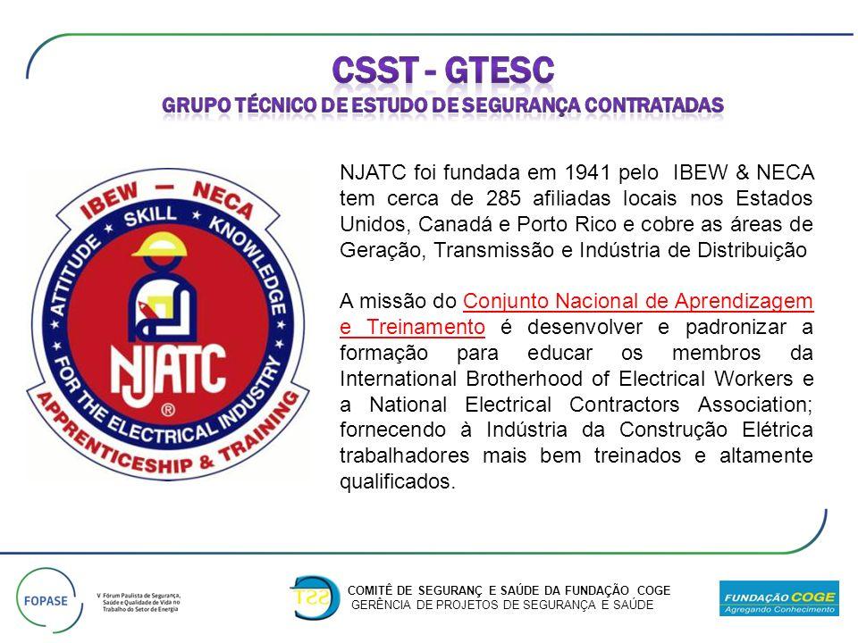 CSST - GTESC Grupo técnico de estudo de segurança contratadas
