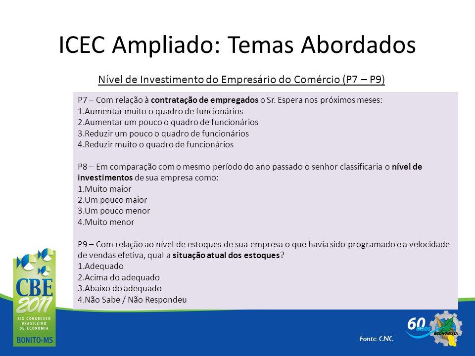 ICEC Ampliado: Temas Abordados